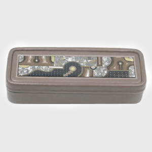 Gray Leather Jewelry Box amberland-artisan