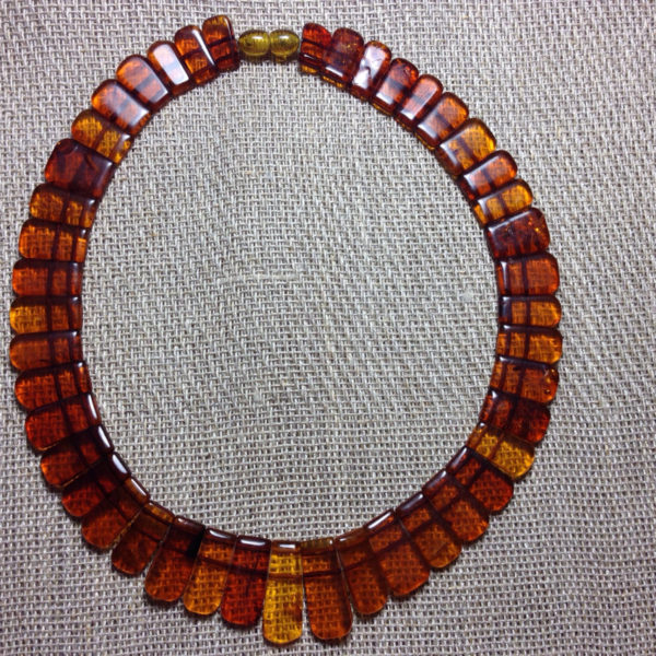 Vintage Cognac Honey Amber Necklace