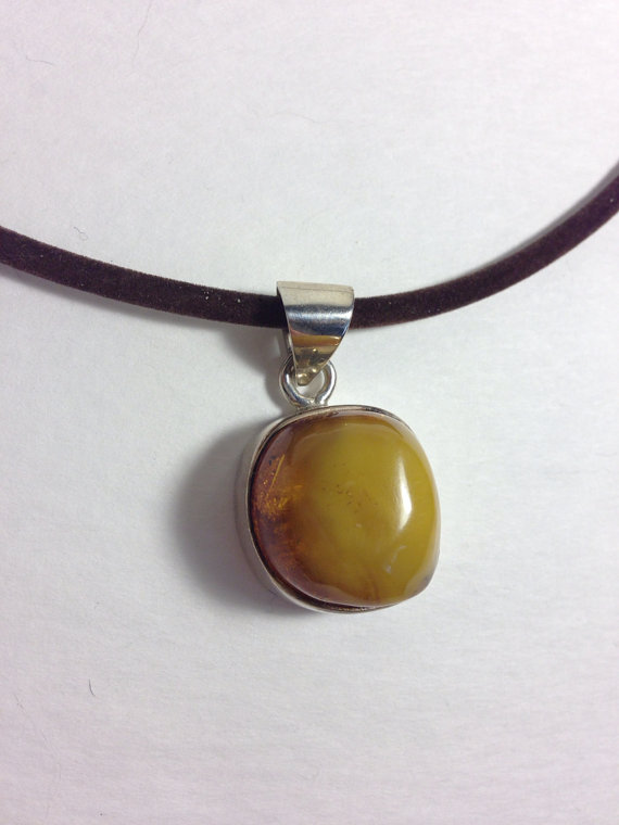 amber sterling blue sumatra includes beautiful products reduced silver in incl chain pendant golden