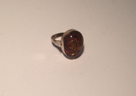 Oval Baltic Amber Ring