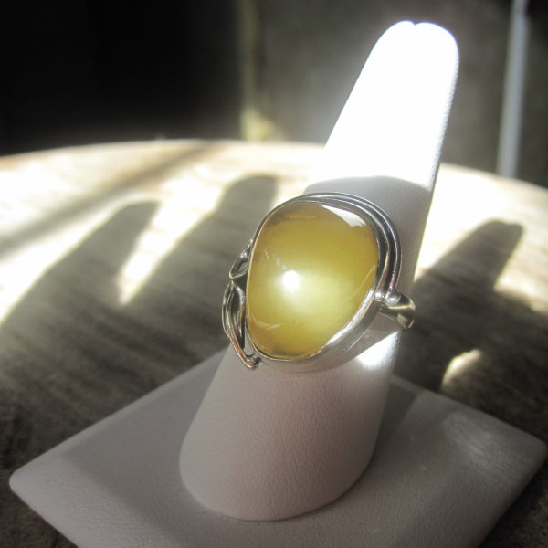 Milky Amber Ring