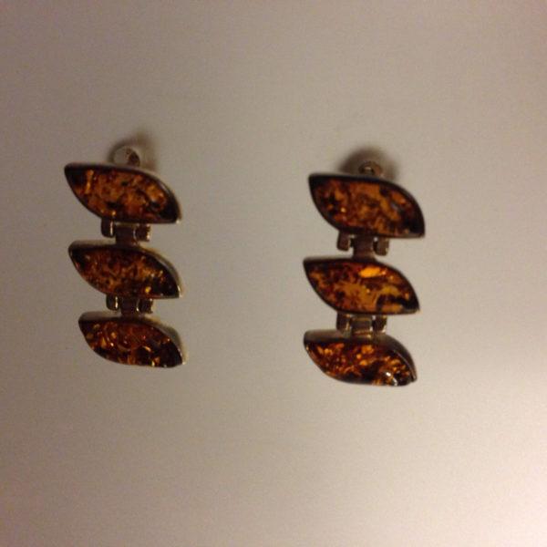 Hanging Vintage Baltic Amber Earrings