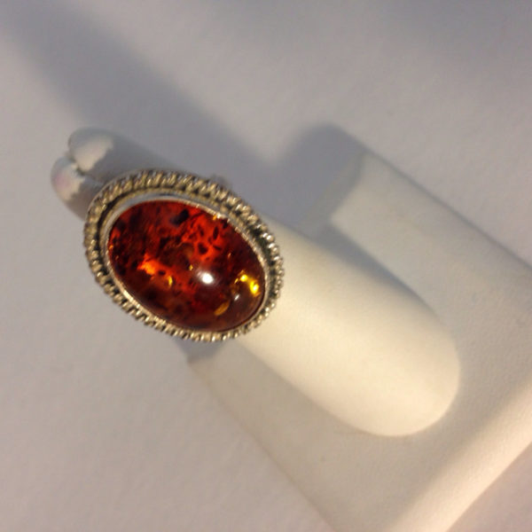 Stunning Statement Oval Amber Ring