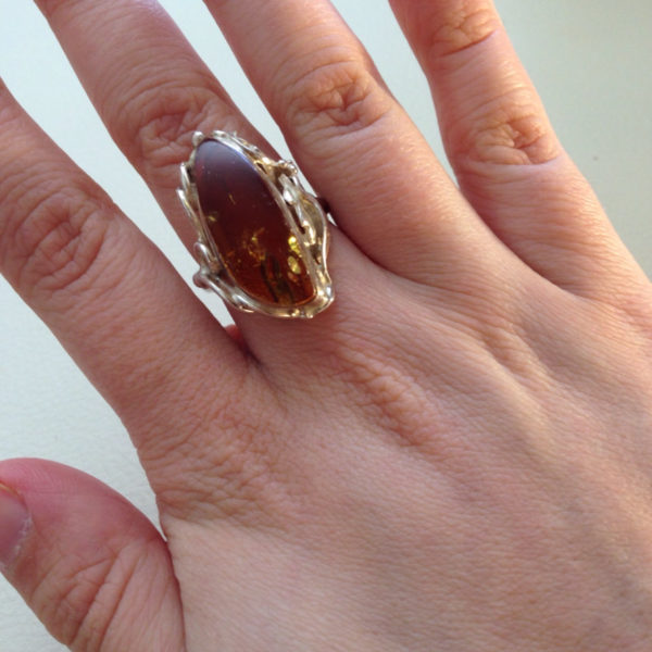 Beautiful Long Amber Ring