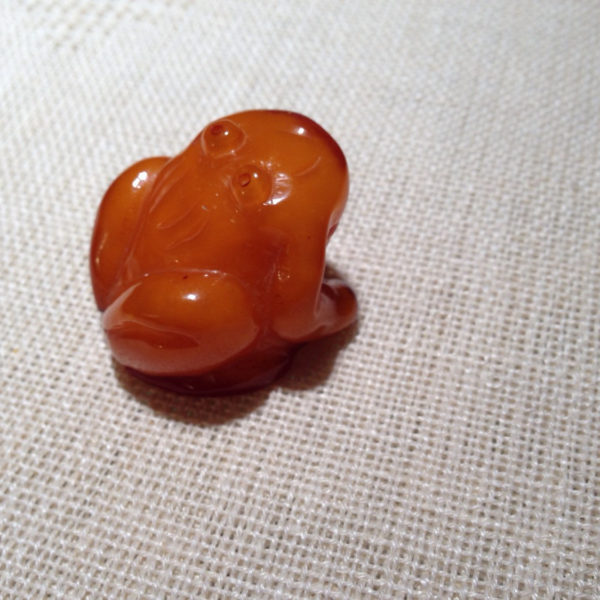 Antique Baltic Amber Frog