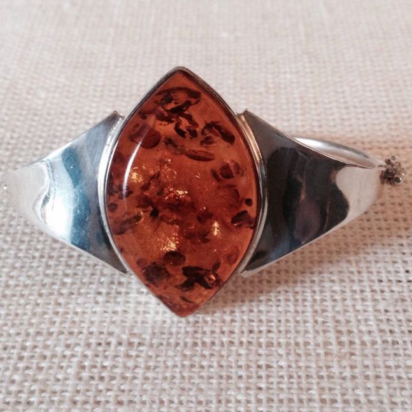 Honey Amber & Sterling Silver Bracelet