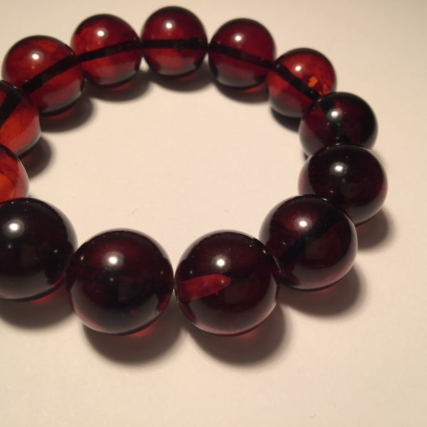 Beaded Cherry Amber Bracelet