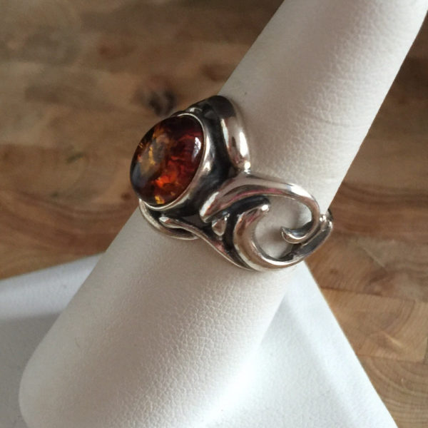 Unique Amber Ring